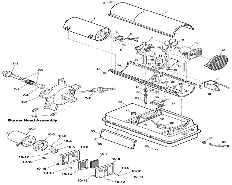 ready heater parts diagrams