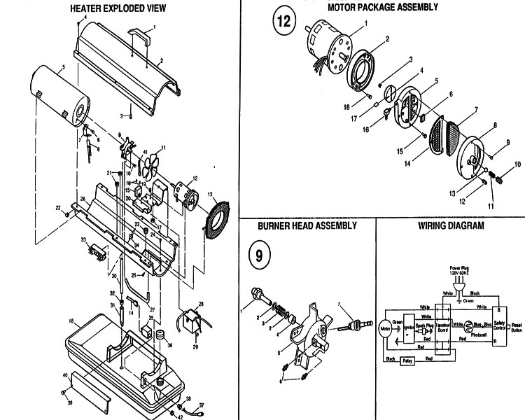 reddy heater wiring diagram Master Heater Troubleshooting Reddy Heater Parts Diagram