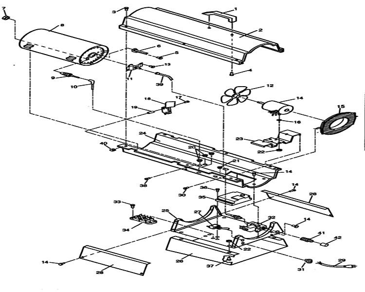 forced air kerosene heater parts